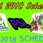 PSL Schedule 2018 | Time Table | PSL T20 Fixtures | PSL Schedule 2018 Download