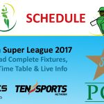 PSL Schedule 2017 | Time Table | PSL T20 Fixtures | PSL Schedule 2017 Download