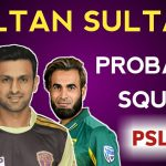 PSL 2019: Multan Sultans Team Squad, Team Members & Players