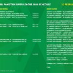 Pakistan Super League PSL 2020 Schedule, Team Squads, TV Channel, Live Scores, Highlights, Points Table